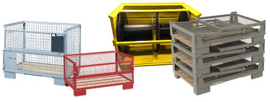 Gitterboxen und Stahlbehälter im Überblick