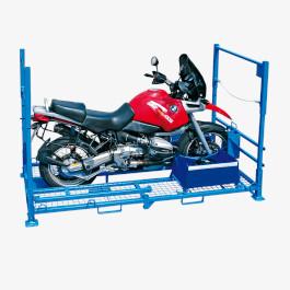 Beladenes Motorrad-Transportgestell