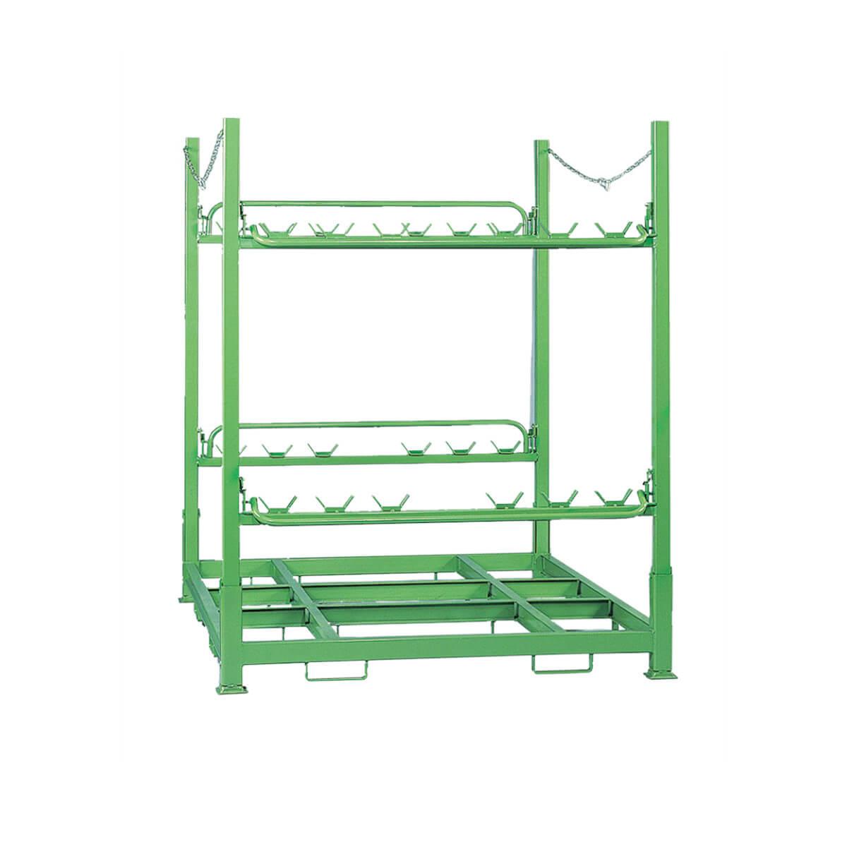Gestell für Lagerung und Transport von bis zu 12 Folienrollen