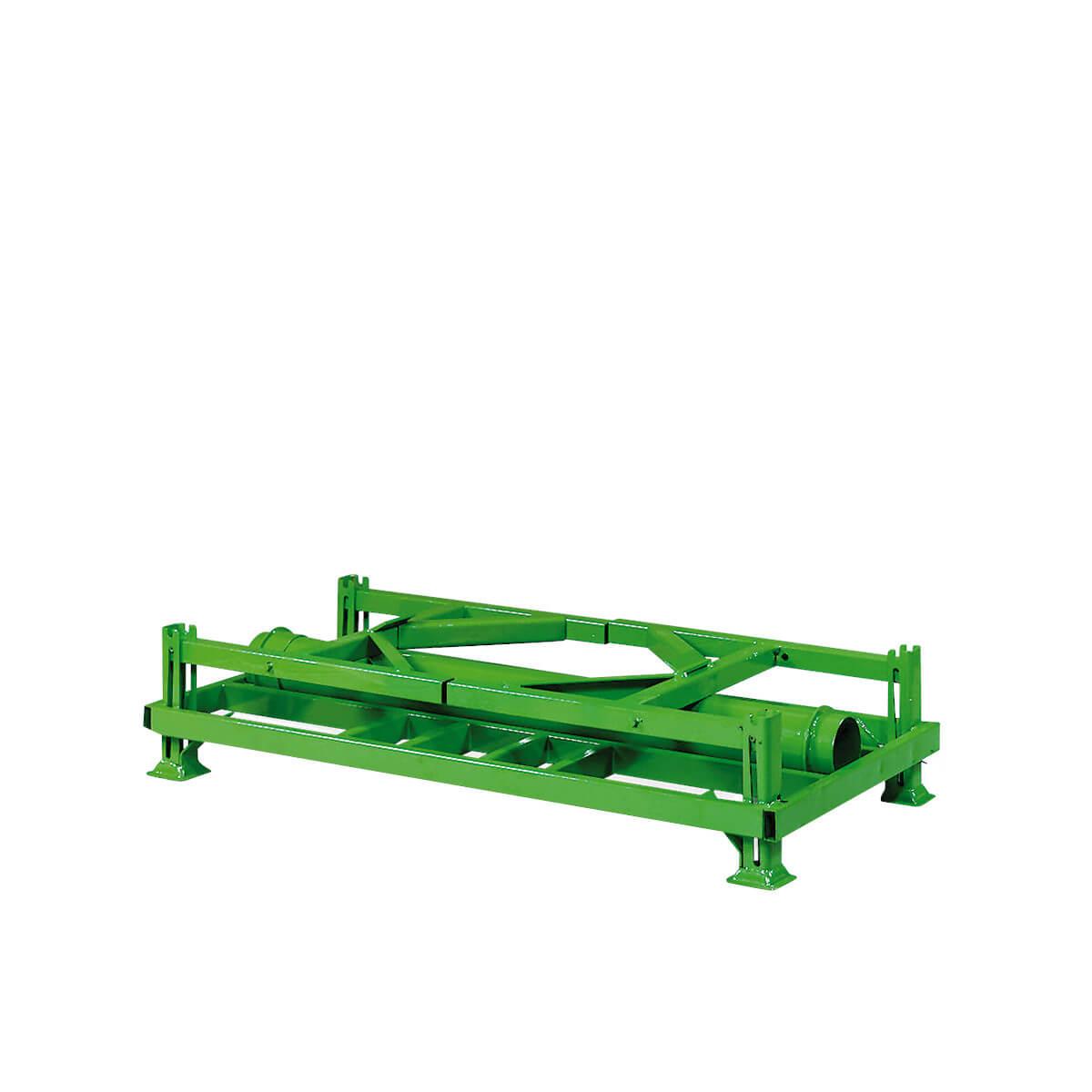 Folienrollengestell, klappbar, auch steckbare, starre und nestbare Ausführungen möglich